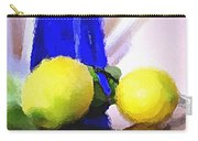 Blue Bottle And Lemons Carry-all Pouch by Ben and Raisa Gertsberg