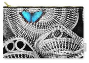 Blue Butterfly Charleston Carry-all Pouch