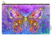 Blue Butterfly Floral Carry-all Pouch