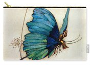 Blue Butterfly II Carry-all Pouch by Warwick Goble