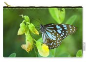 Blue Butterfly In The Green Garden Carry-all Pouch