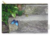 Blue Butterfly Carry-all Pouch