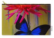 Blue Butterfly On Fire Mum Carry-all Pouch