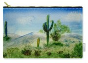Blue Cactus Carry-all Pouch