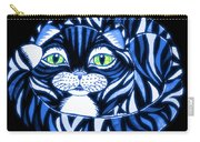 Blue Cat Green Eyes Carry-all Pouch
