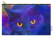 Blue Cat Ponders Carry-all Pouch