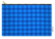 Blue Checkered Tablecloth Fabric Background Carry-all Pouch