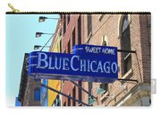 Blue Chicago Club Carry-all Pouch