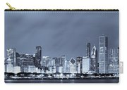Blue Chicago Skyline Carry-all Pouch
