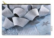 Blue Christmas Gift Carry-all Pouch by Elena Elisseeva