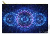 Blue Circle Fractal Carry-all Pouch by Martin Capek