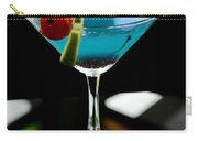 Blue Cocktail With Cherry And Lime Carry-all Pouch