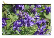 Blue Columbine Flower Carry-all Pouch
