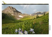 Handie's Peak And Blue Columbine On A Summer Morning Carry-all Pouch by Cascade Colors