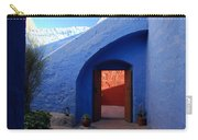 Blue Courtyard Carry-all Pouch