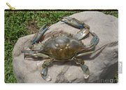 Blue Crab On The Rock Carry-all Pouch