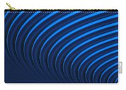 Blue Curves Carry-all Pouch