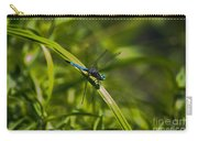 Blue Damsel Dragon Fly Carry-all Pouch