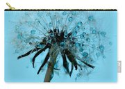 Blue Dandelion Wish Carry-all Pouch