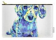 Blue Dapple Dachshund Puppy Carry-all Pouch by Jane Schnetlage