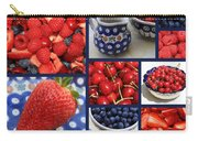 Blue Dishes And Fruit Collage Carry-all Pouch