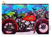 Blue Dogs On Motorcycles - Dawgs On Hawgs Carry-all Pouch