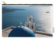 Blue Domed Church In Santorini Greece Carry-all Pouch