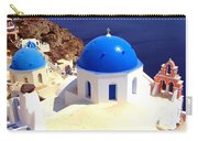 Blue Domes In Santorini Carry-all Pouch