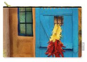 Blue Door And Peppers Carry-all Pouch