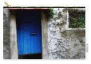 Blue Door  On Rustic House Carry-all Pouch