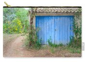 Blue Doors And Yellow Flowers Carry-all Pouch