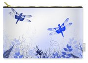 Blue Dragonfly Art Carry-all Pouch