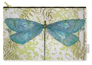 Blue Dragonfly On Vintage Tin Carry-all Pouch