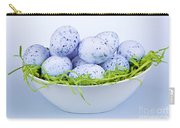 Blue Easter Eggs In Bowl Carry-all Pouch