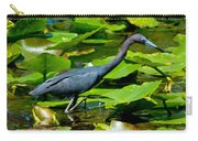 Reddish Egret Among The Lily Pads Carry-all Pouch