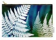 Blue Fern Leaf Art Carry-all Pouch