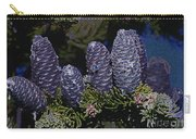 Blue Fir Cones 2 Outlined Carry-all Pouch