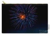 Blue Firework Flower Carry-all Pouch by Robert Bales