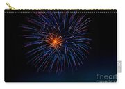 Blue Firework Flower Carry-all Pouch