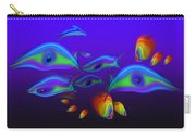 Blue Fish Dolphin Carry-all Pouch