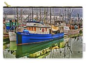 Blue Fishing Boat Hdr Carry-all Pouch