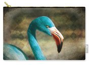 Blue Flamingo Carry-all Pouch