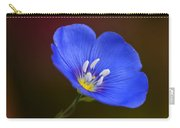 Blue Flax Blossom Carry-all Pouch