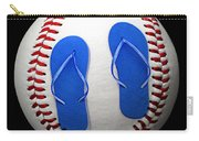 Blue Flip Flops Baseball Square Carry-all Pouch