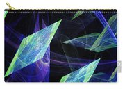 Blue Floating Diamonds Carry-all Pouch