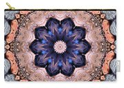 Blue Flora Mandala Carry-all Pouch