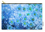 Blue Floral Fantasy Carry-all Pouch