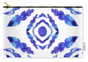 Blue Floral Pattern II Carry-all Pouch