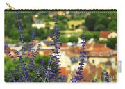 Blue Flowers And Rooftops In Sarlat Carry-all Pouch by Elena Elisseeva