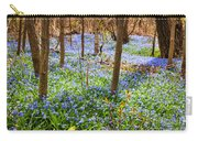 Blue Flowers In Spring Forest Carry-all Pouch by Elena Elisseeva